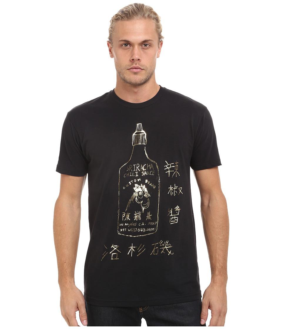 Custom Ketchup Sriracha Gold Black Mens T Shirt