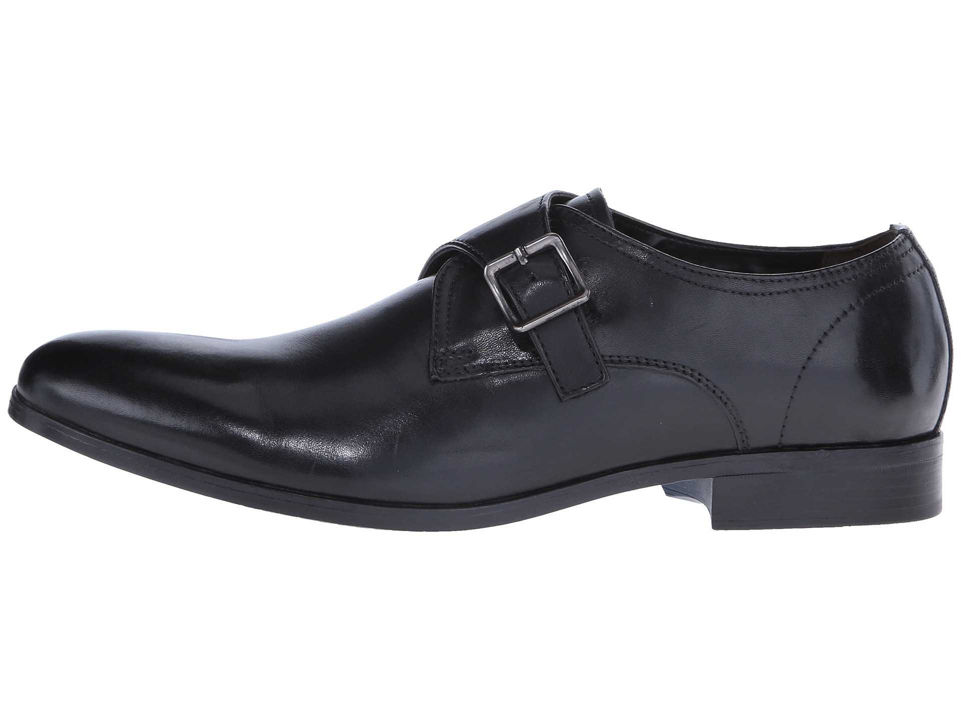 clarks banfield monk black leather zappos free