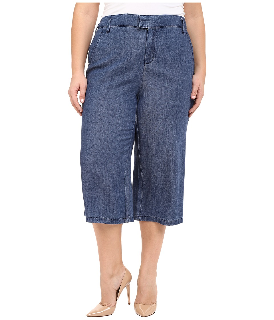 NYDJ Plus Size Plus Size Denim Culotte Pants in Denim Denim Womens Jeans