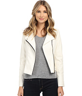 Blank NYC - White Leather Moto Jacket in Play Doctor