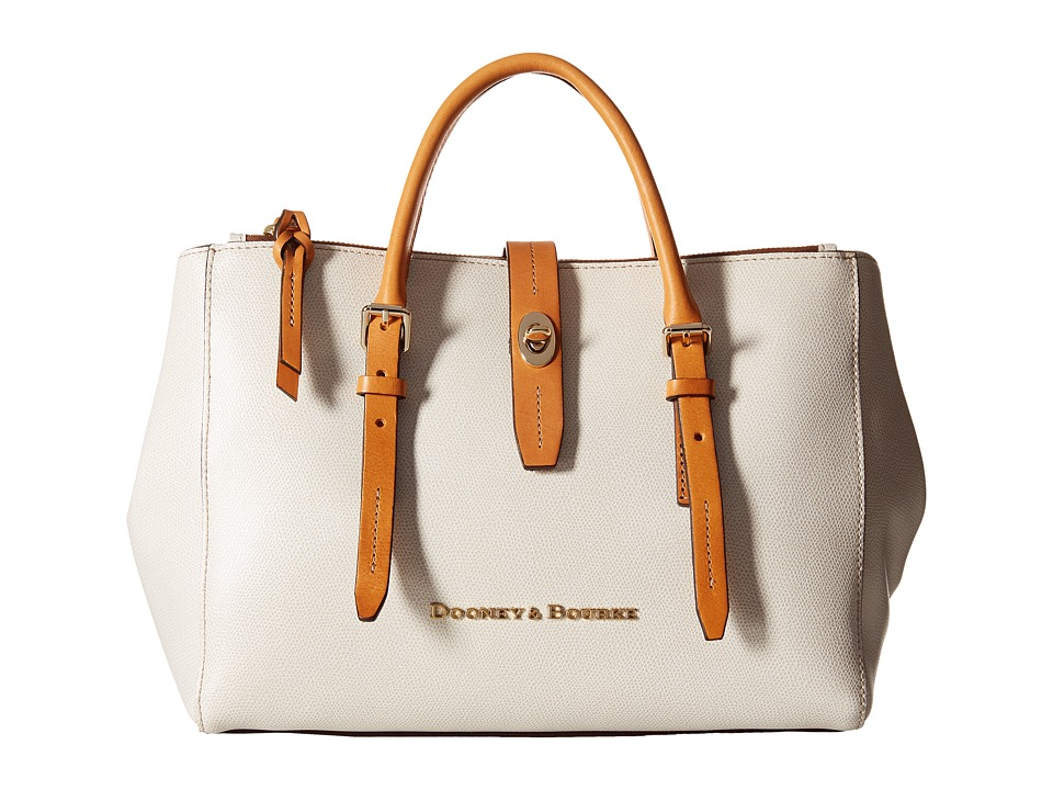 Dooney & Bourke - Claremont Miller Satchel (Bone/Butterscotch Trim) Satchel Handbags