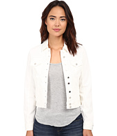 Blank NYC - White Denim Jacket in White Lines