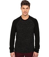 Original Penguin - Long Sleeve Raglan Crew w/ Boucle Front Panel Jersey
