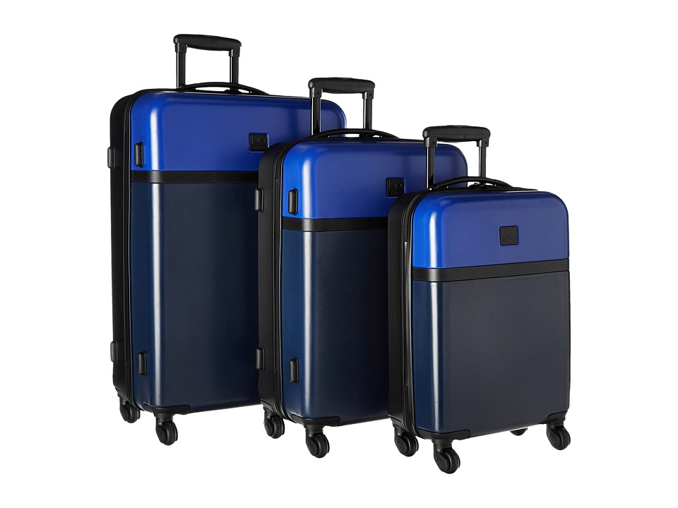Diane von Furstenberg - Addison Three-Piece Hardside Luggage Set (Lapis Blue/Midnight Black) Luggage