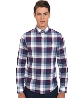 Original Penguin - Long Sleeve Slub Check Poplin Shirt