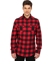 Original Penguin - Long Sleeve Buffalo Check Brushed Cotton Shirt