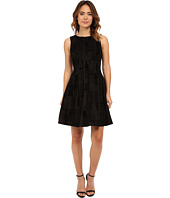 Calvin Klein - Flocked Flare Dress