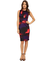 Calvin Klein - Printed Seamed Sheath Dress