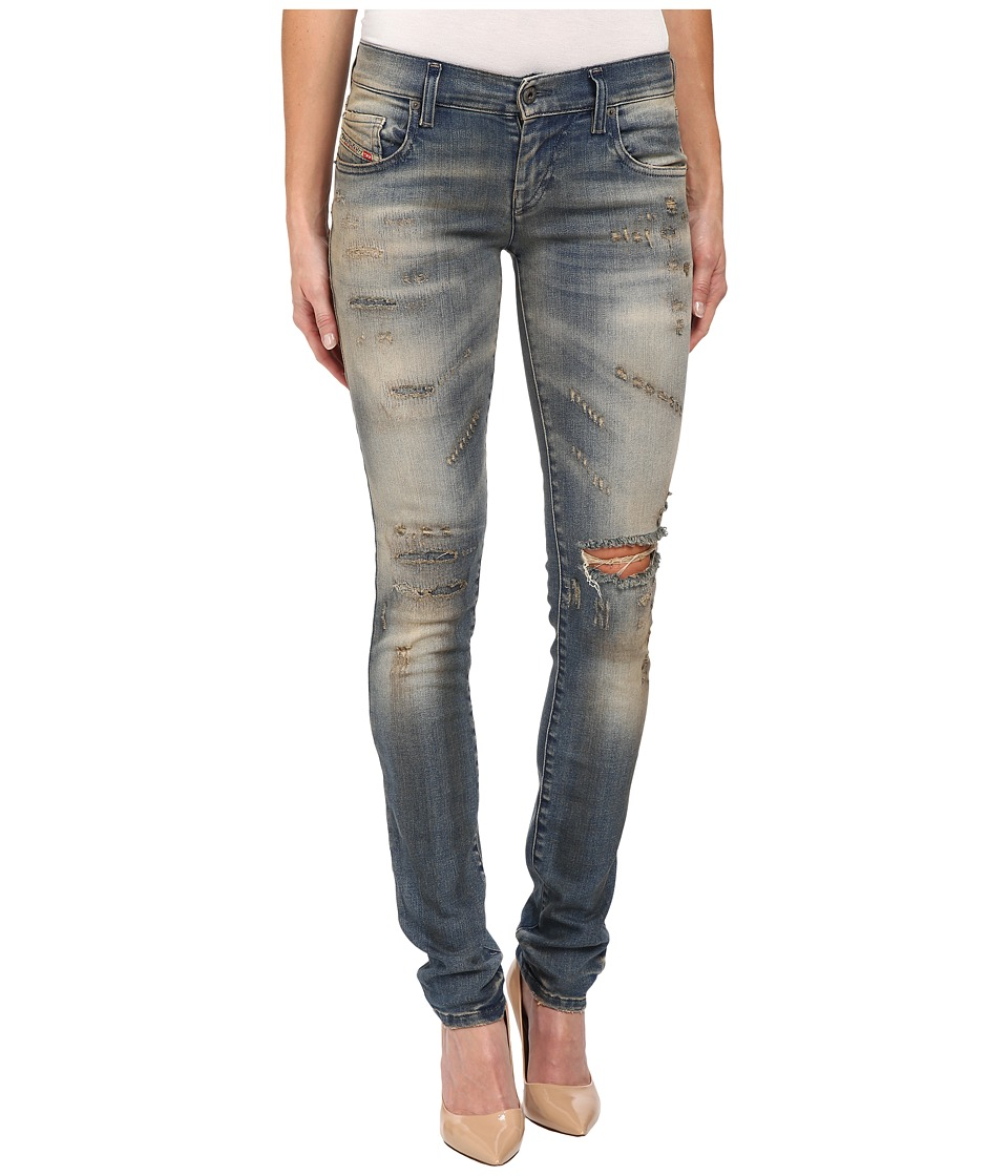 Diesel Grupee Trousers 0846K in Denim Denim Womens Jeans