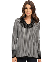 Calvin Klein - Cowl Neck with Grid Stripe