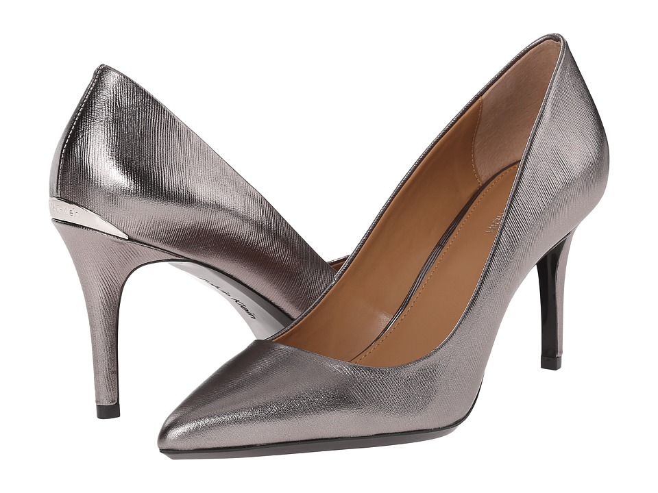 Calvin Klein - Gayle (Anthracite Metallic Grain Leather) High Heels