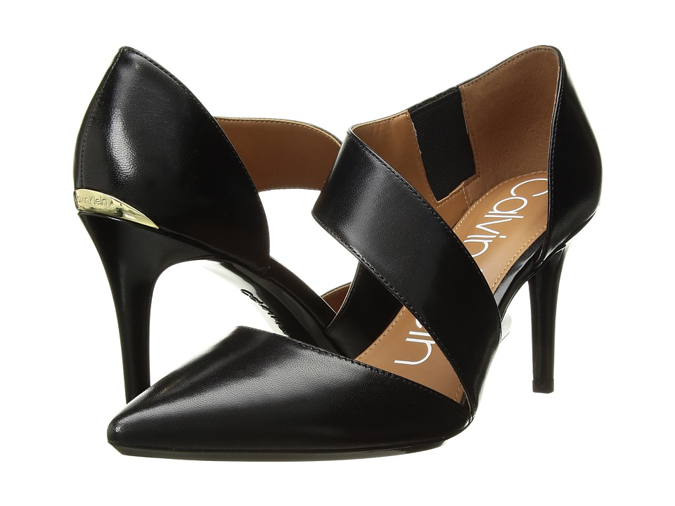 Calvin Klein Gella Pump (Black Kid Skin) High Heels