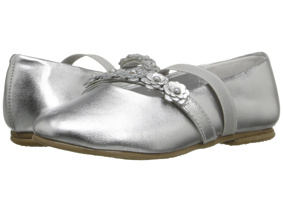 Jumping Jacks Kids Balleto Charm Toddler/Little Kid/Big Kid Silver Metallic Girls Shoes