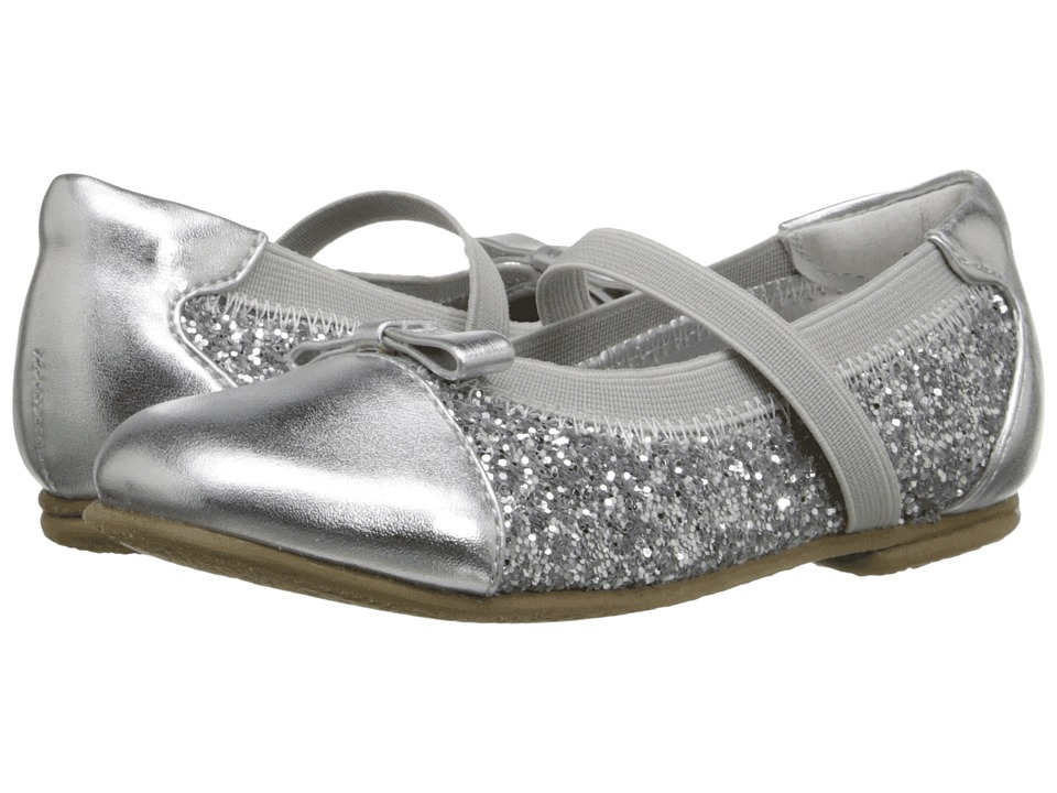 Jumping Jacks Kids Balleto Destiny II Toddler/Little Kid/Big Kid Silver Metallic Glitter Girls Shoes