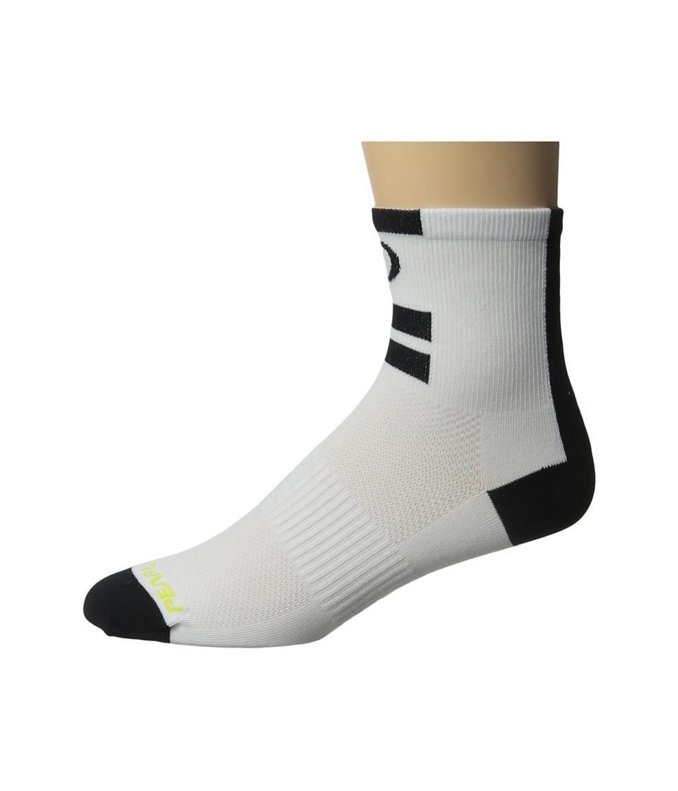 Pearl Izumi Elite Sock White 1 Mens Quarter Length Socks Shoes