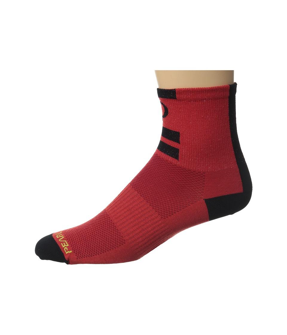 Pearl Izumi Elite Sock Red Mens Quarter Length Socks Shoes
