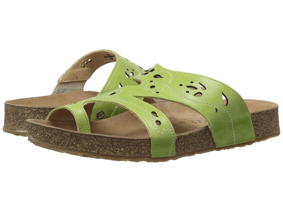 Haflinger Marcy Lime Womens Sandals