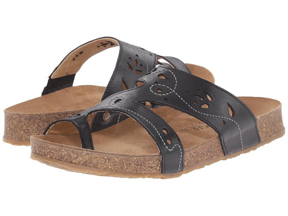 Haflinger Marcy Black Womens Sandals
