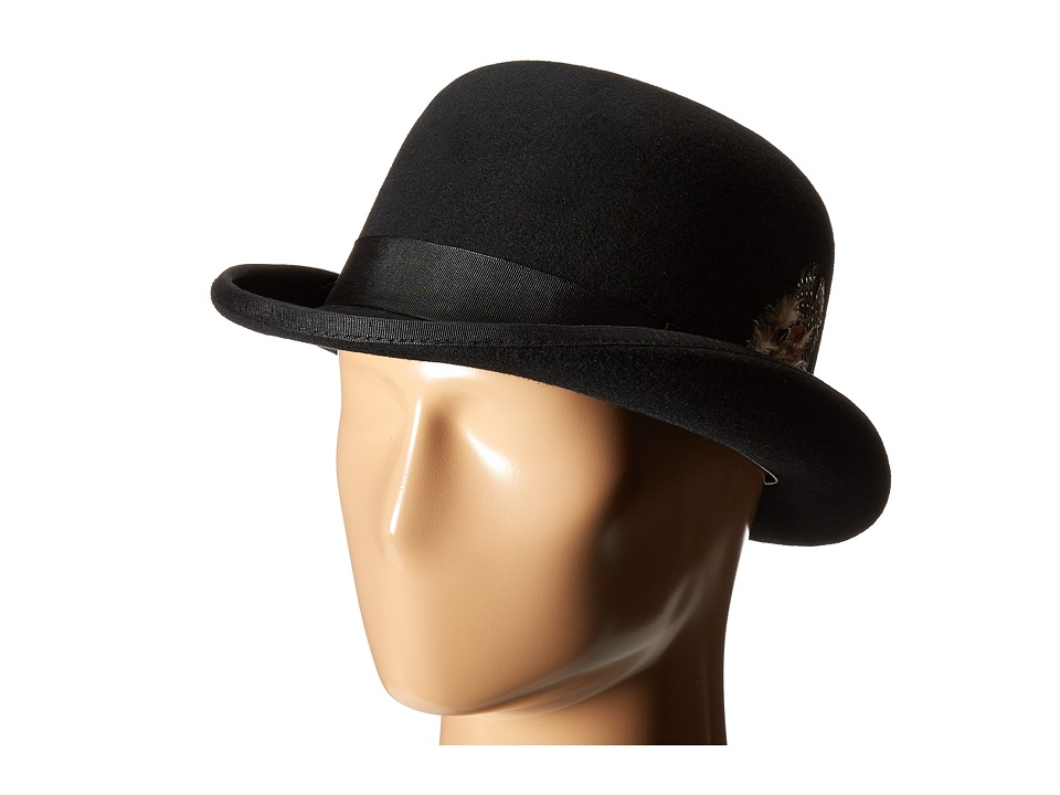 New Edwardian Style Men's Hats 1900-1920 Stacy Adams - Wool Derby Hat Black Caps $45.99 AT vintagedancer.com