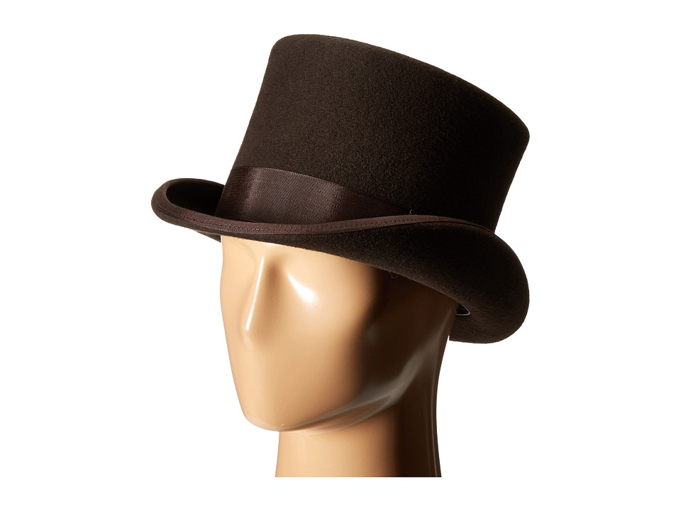 SCALA - Wool Felt English Topper w Grograin Band Brown Caps $85.00 AT vintagedancer.com
