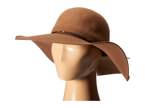 SCALA Wool Floppy Hat with Wax Cord Trim - Pecan