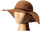 SCALA Wool Floppy Hat with Wax Cord Trim (Pecan)