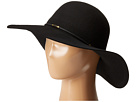 SCALA Wool Floppy Hat with Wax Cord Trim (Black)