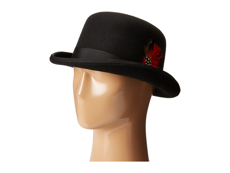 SCALA - Wool Felt Derby Hat with Grosgrain Trim Black Caps $54.00 AT vintagedancer.com