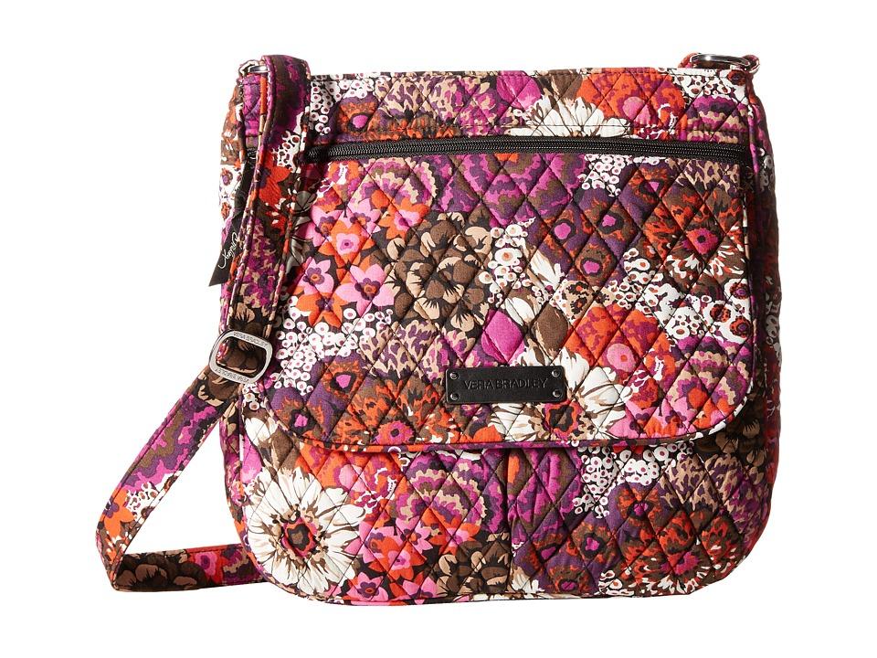 Vera Bradley Double Zip Mailbag Rosewood Cross Body Handbags