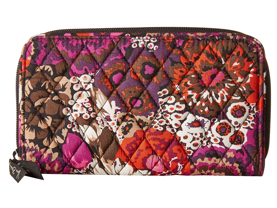 Vera Bradley Accordion Wallet Rosewood Wallet Handbags