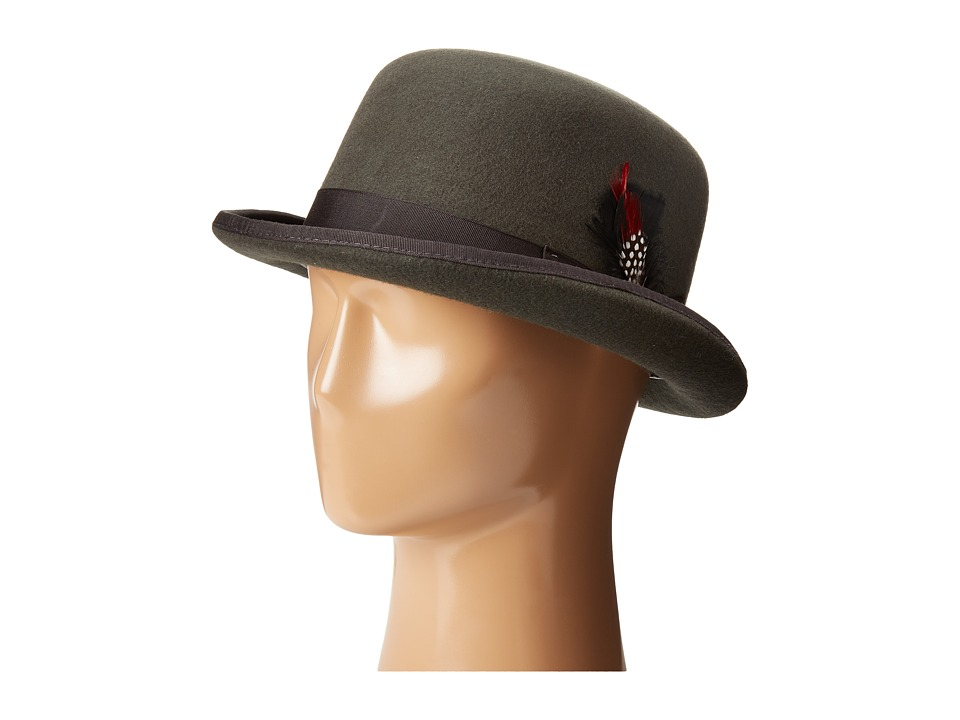 Men's Vintage Style Hats Derby Hat with Grosgrain Trim Charcoal Caps $37.99 AT vintagedancer.com