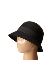 SCALA - Wool Felt Cloche with Grograin Band and Bow