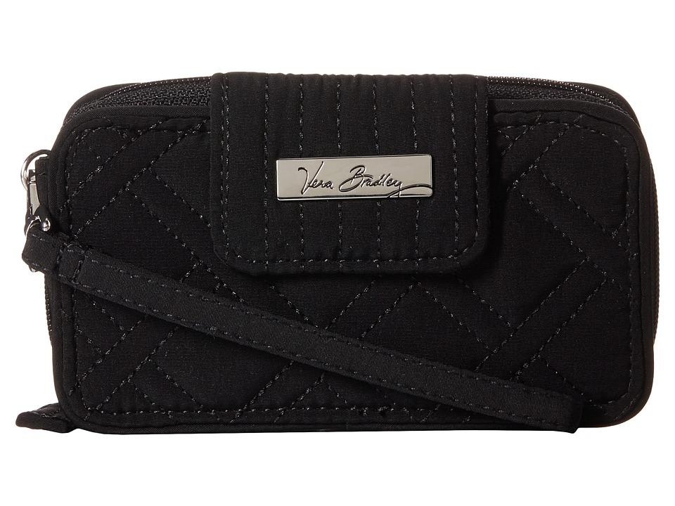 Vera Bradley Smartphone Wristlet for iPhone 6 Classic Black Clutch Handbags