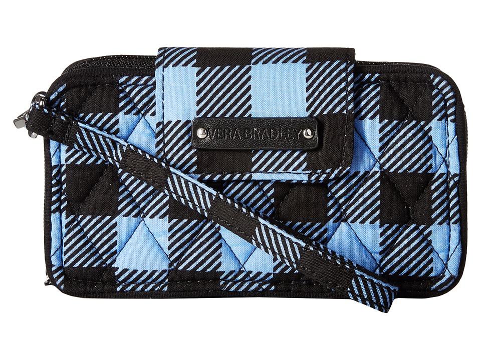 Vera Bradley Smartphone Wristlet for iPhone 6 Alpine Check Clutch Handbags