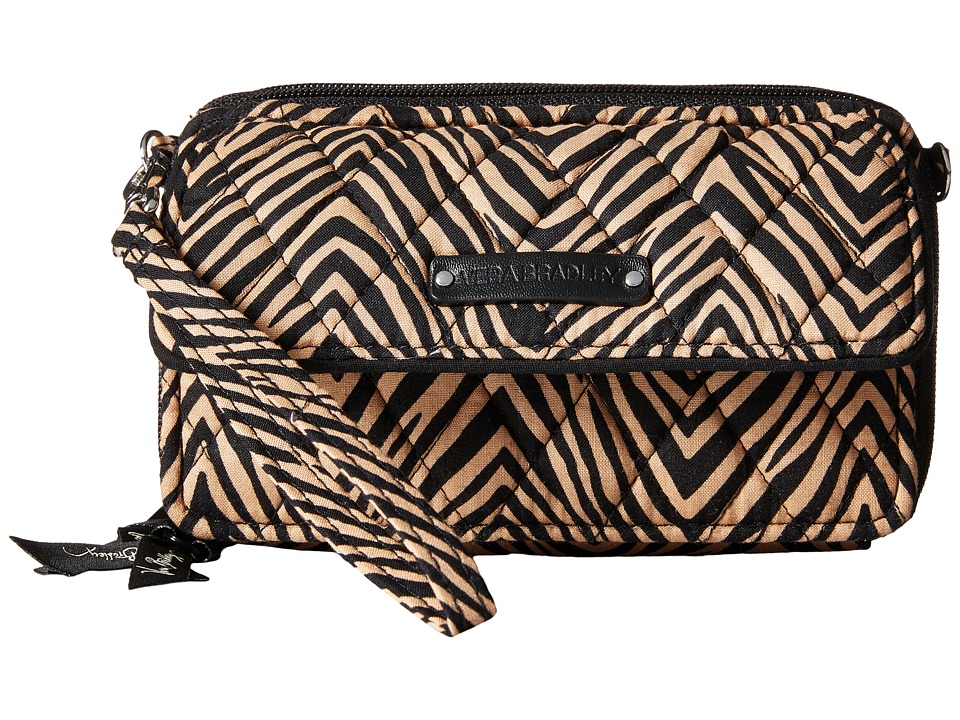 Vera Bradley All in One Crossbody for iPhone 6 Zebra Clutch Handbags