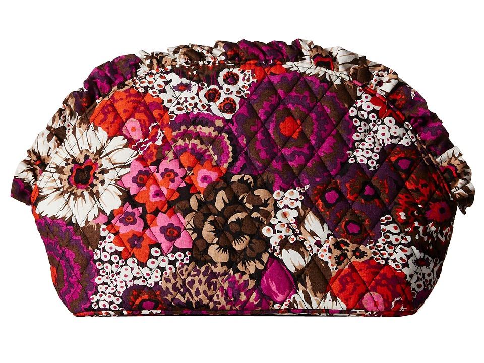 Vera Bradley Luggage Large Ruffle Cosmetic Rosewood Luggage