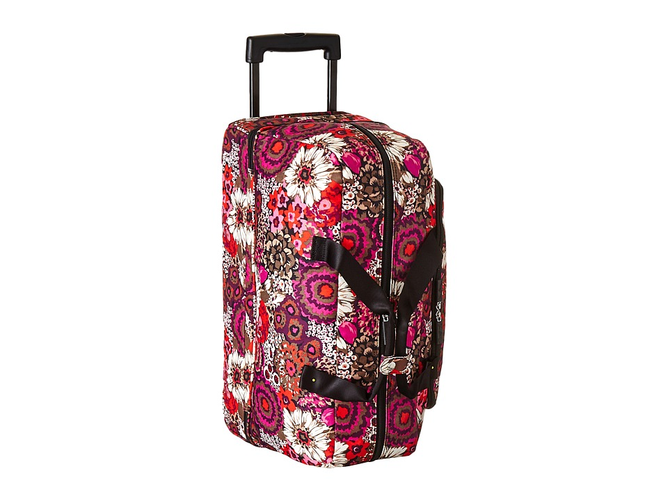 Vera Bradley Luggage Lighten Up Wheeled Carry-on (Rosewood) Carry on Luggage