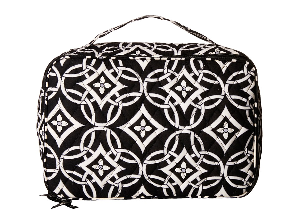 Vera Bradley Luggage Large Blush Brush Makeup Case Concerto Cosmetic Case