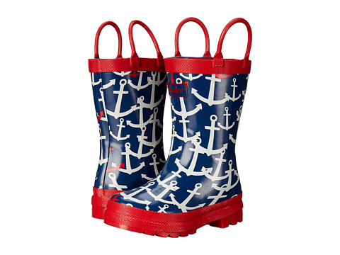 Hatley Kids Scattered Anchors Rainboots (Toddler/Little Kid)