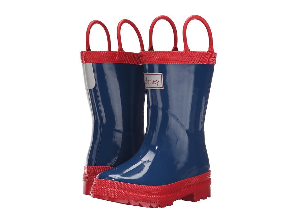 Hatley Kids - Navy Red Rainboots