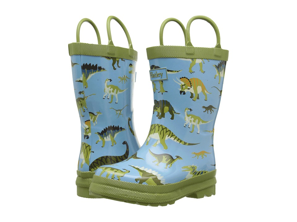 Hatley Kids - Wild Dinos Rainboots (Toddler/Little Kid) (Blue) Boys Shoes