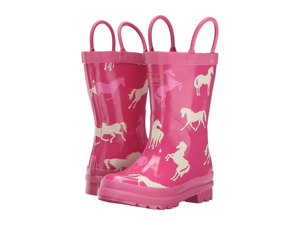 Hatley Kids Classic Horses Rainboots Toddler/Little Kid Pink Girls Shoes