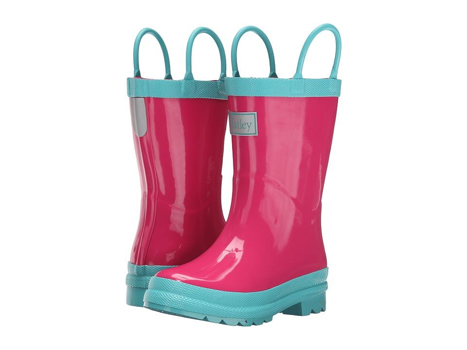 Hatley Kids - Fuchsia Turquoise Rainboots (Toddler/Little Kid) (Fuchsia/Turquoise) Girls Shoes