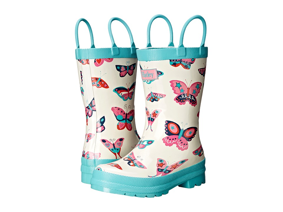 Hatley Kids - Electric Butterflies Rainboots (Toddler/Little Kid) (White) Girls Shoes