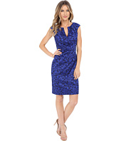 Adrianna Papell - Floral Jacquard Wrap Sheath