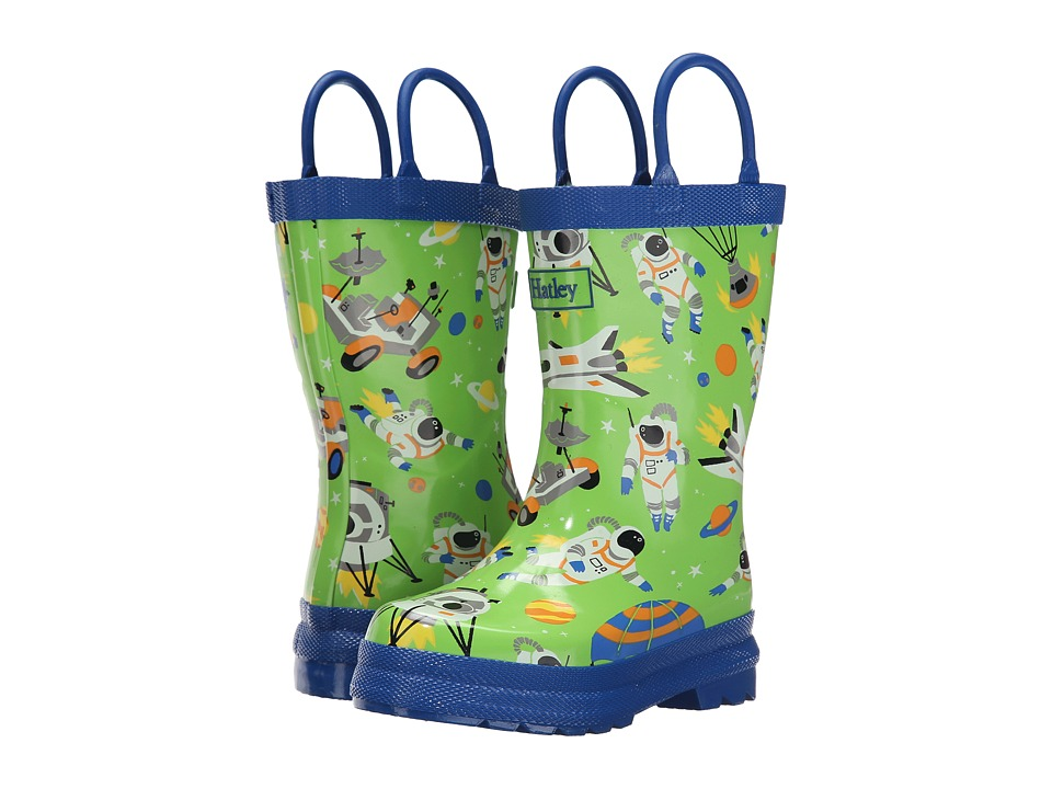 Hatley Kids Astronauts Rainboots Toddler/Little Kid Green Boys Shoes