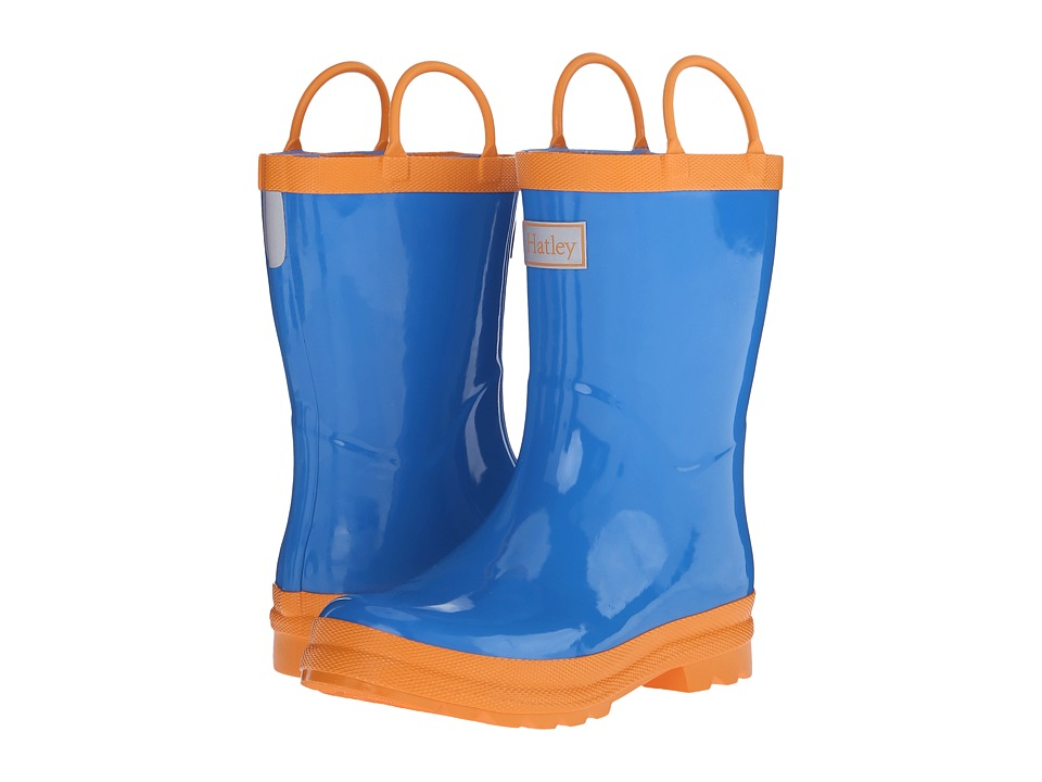 Hatley Kids - Royal Blue Orange Rainboots (Toddler/Little Kid) (Royal Blue/Orange) Boys Shoes