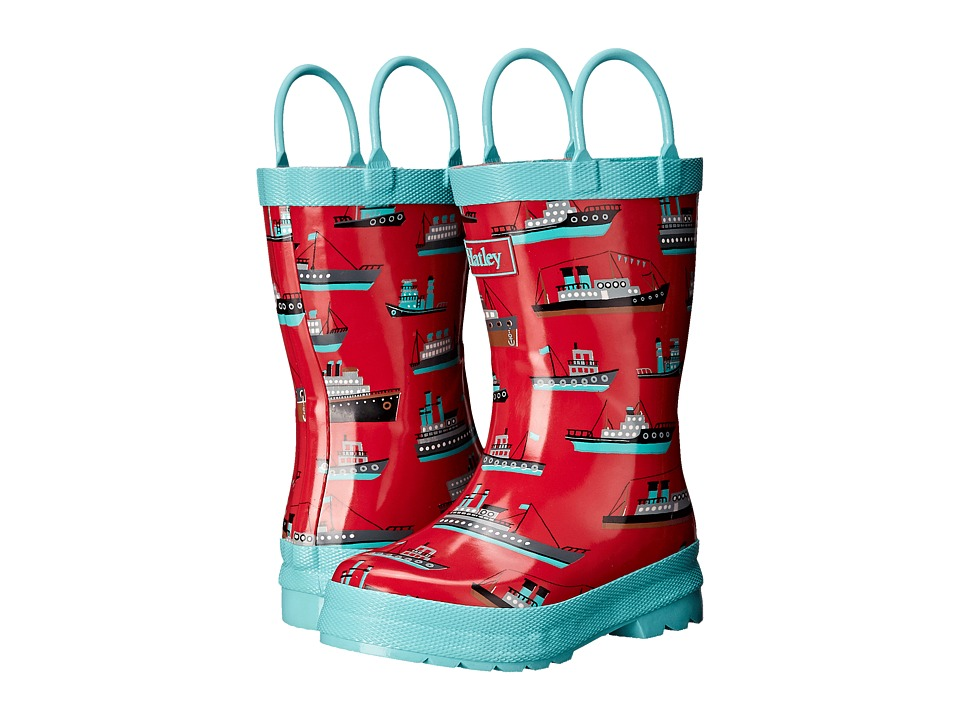 Hatley Kids - Ocean Liner Rainboots (Toddler/Little Kid) (Red) Boys Shoes