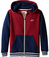 Vans Kids - Core Basic Colorblock Zip Hoodie III (Big Kids)