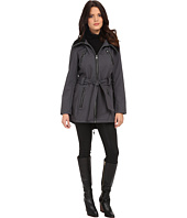 Steve Madden - Softshell Rib Collar Self Belt Coat
